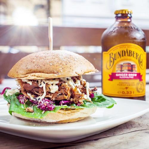 Fette Kuh Burger Foto